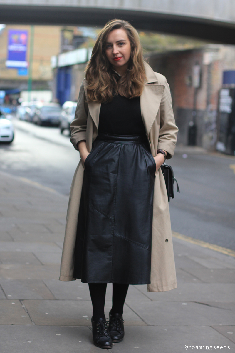 Long Leather Skirt Images